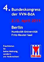Plakat: 4. Bundeskongress der VVN-BdA.