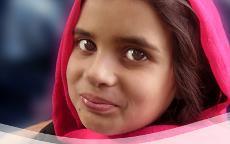 Porträt: Mädchen aus Afghanistan.