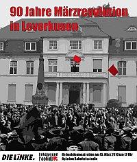 Plakat: 90 Jahre Märzrevolution in Leverkusen