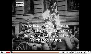 You tube Video: Im März 1920 putschen faschistische Militärs die demokratisch gewählte Reichsregierung.